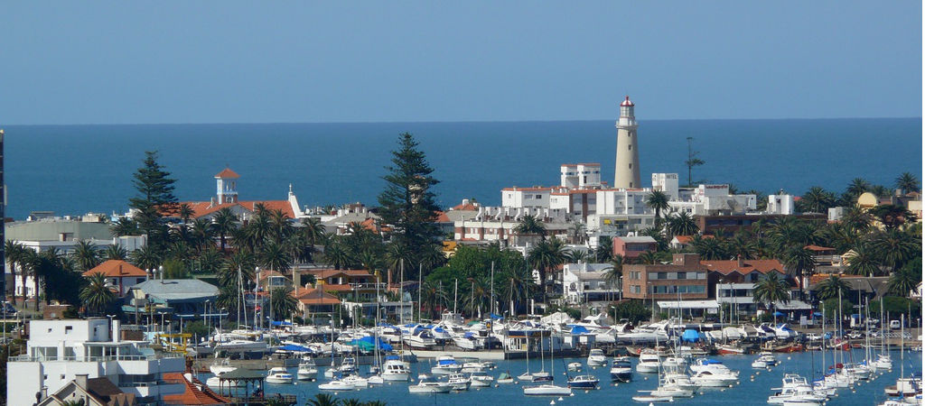 Peninsula, harbor, mansa brava beach and lighthouse
